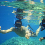 Snorkeling is fun at the island