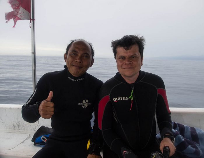 Stefan & Wayan ready to go diving at Close Encounters