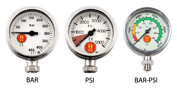 3 types of pressure gauges