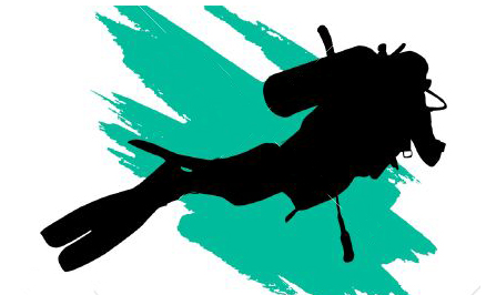 Graphic of diver