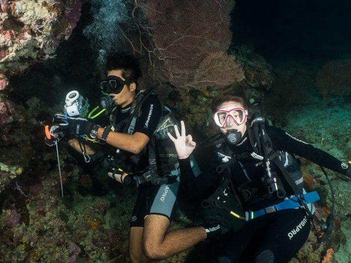 Underwater Cave, Menjangan, Bali, Indonesia, Abdul