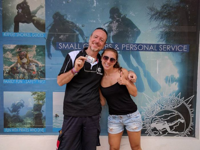 Welcome to the Brethren Emma--a newly certified Advanced Open Water Diver