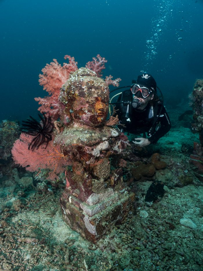 Captain Paul, underwater statue, Temple Garden, Pemuteran, Bali, Indonesia