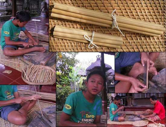 Putu bamboo straws