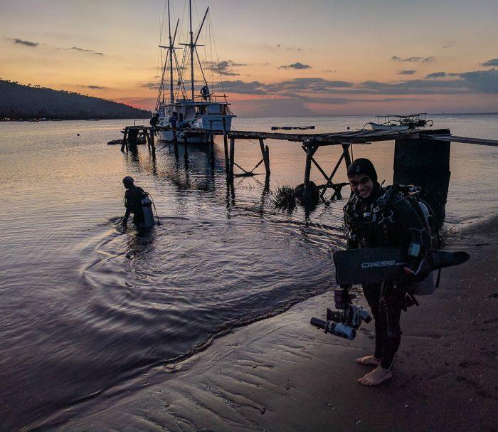 Night dive, Mucky Pirates Bay, Pemuteran, Bali, Indonesia