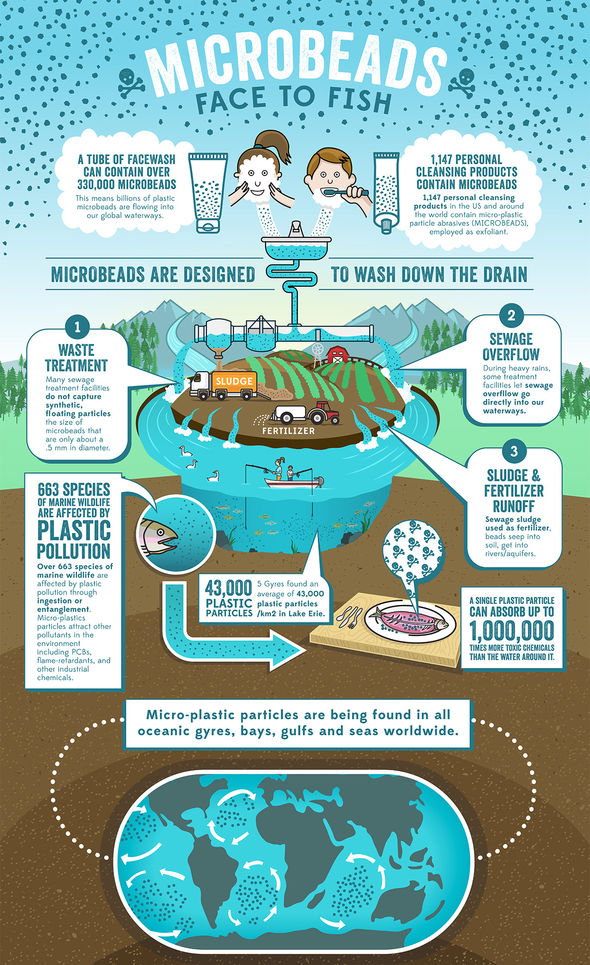 Microbeads, Environment