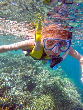 Young snorkeler